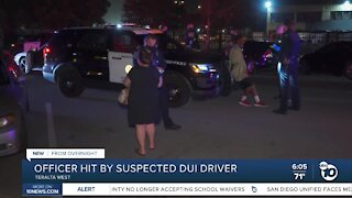 SDPD officer hit by suspected DUI driver