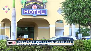 Man punches security guard at Seminole Casino - Video