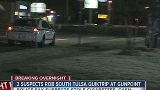 South Tulsa Quiktrip robbed at gunpoint overnight - Video