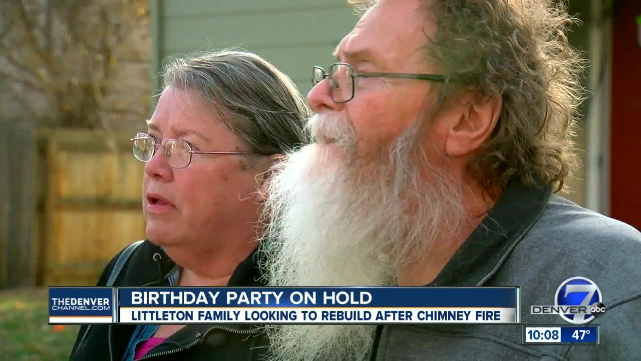 Littleton couple heartbroken they can't throw granddaughter birthday party after fire damages home