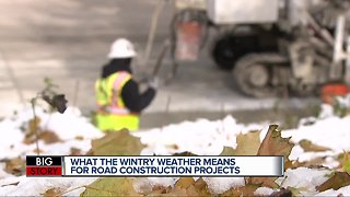 What wintry weather means for road construction projects