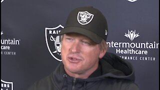 Gruden: Raiders handling virtual meetings ahead of Jets game