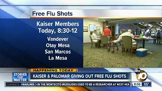 Kaiser Permanente offering free flu shots - Video
