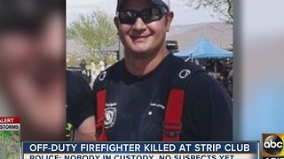 Fellow firefighters remember 12-year veteran killed after fight at strip club - Video