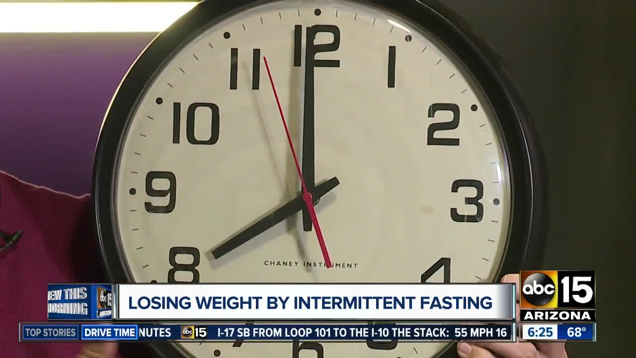 Losing weight by intermittent fasting