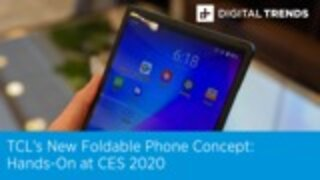 TCL's New Foldable Phone Concept | Hands-On at CES 2020