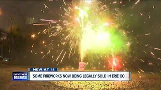 Why are fireworks being sold in Erie County? - Video