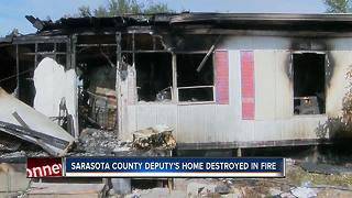 Sarasota Co. Deputy loses everything in house fire - Video
