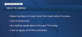 NDOT is hiring for the winter
