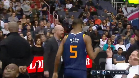 Rodney Hood Takes Frustration Out On Fan's Phone After Ejection