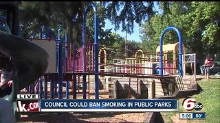 Smoking could soon be banned in Indy parks - Video