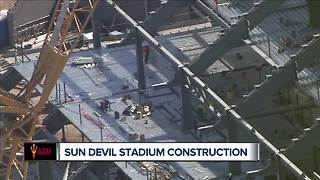 How is construction going at Sun Devil Stadium? - Video