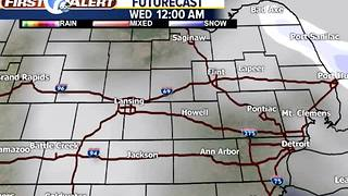 Snow showers Tuesday - Video