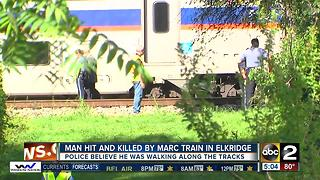Police seeking ID of man hit by MARC train - Video