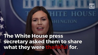 Sarah Huckabee Sanders Ticks Off Liberals - Video