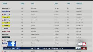 Winter weather causes flight delays in and out of RSW - Video