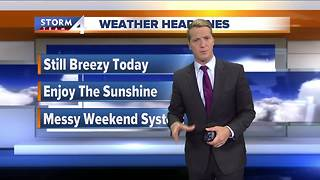 Sunny and breezy Thursday - Video