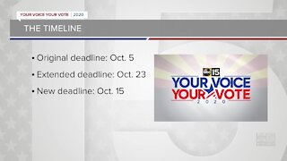 Early end ordered to Arizona's voter registration extension