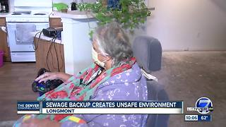 Longmont woman living in apartment with sewage, mold - Video