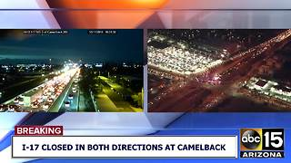 I-17 was closed Thursday night at Camelback for a police situation - Video