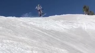 Epic double snowboard intense wipeouts