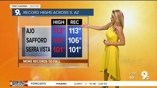 Record highs to end a hot July