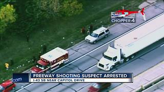 I-43 shooting suspect arrested - Video
