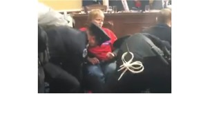 Wheelchair-Bound Protesters Removed From Healthcare Reform Meeting - Video