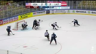 Dylan Larkin keeps producing as USA beats Latvia at World Championships