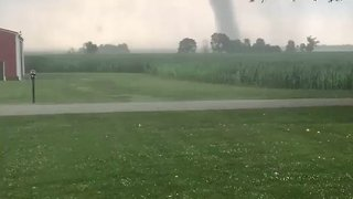Tornado Sweeps Through Cass County, Indiana - Video