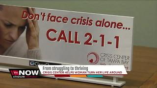 Crisis Center helps woman turn her life around - Video