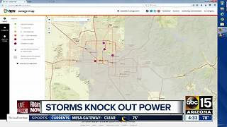 More than 1,000 customers without power after Thursday storms - Video