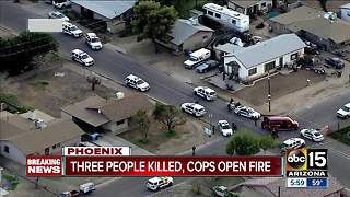 Three people killed, suspect injured in Phoenix officer-involved shooting - Video