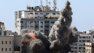 Israeli Strikes Kill 10 In Refugee Camp, Topple News Media Building