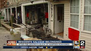 Residents return to salvage belongings after intense fire in Hampden - Video