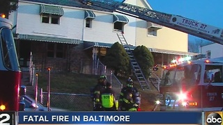 Man found dead after house fire in Baltimore