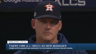 Detroit Tigers hire A.J. Hinch to be team's new manager on multi-year deal