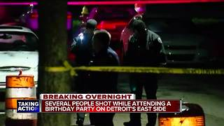 Several people shot while attending birthday party on Detroit's east side - Video