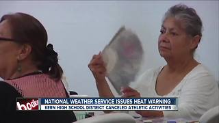 The National Weather Service issued an excessive heat warning- cooling centers open - Video