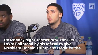 LaVar Ball Refuses to Thank Trump, Would Rather Thank President Xi for Release of Son from China - Video