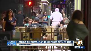 Last call at bars may be extended to 4 am - Video