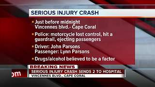 Two seriously injured in Cape Coral motorcycle crash - Video