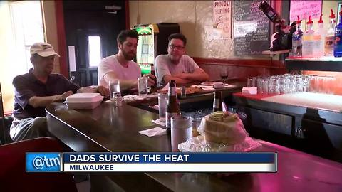 Dads survive the heat in Milwaukee during one of the hottest Father's Days in years