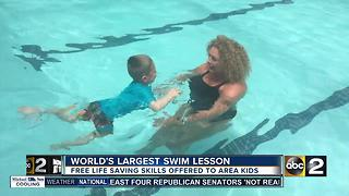 Pools across Maryland participate in World's Largest Swim Lesson - Video