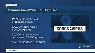 Medical equipment being distributed in Florida