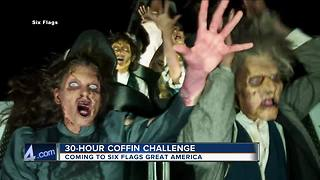 30-hour coffin challenge coming to Six Flags Great America - Video