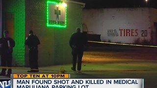 Man shot and killed in medical marijuana shop parking lot - Video