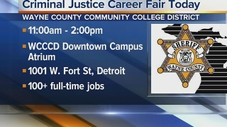 Workers Wanted: Criminal justice career fair today - Video