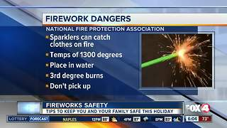 Be careful: fireworks can cause injuries during the 4th of July - Video