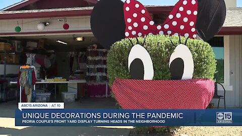 Peoria couple's front yard display turning heads in the neighborhood during the pandemic